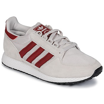 Schuhe Sneaker Low adidas Originals OREGON Beige / Rot