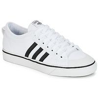 Schuhe Sneaker Low adidas Originals NIZZA Weiss / Schwarz