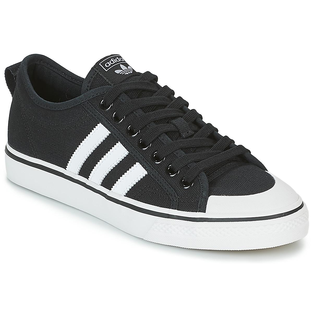 adidas Originals NIZZA Schwarz / Weiss - Kostenloser Versand bei Spartoode ! - Schuhe Sneaker Low  69,95 €