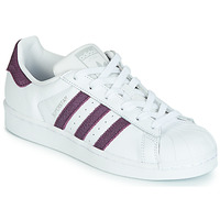 Schuhe Damen Sneaker Low adidas Originals SUPERSTAR W Weiss / Violett