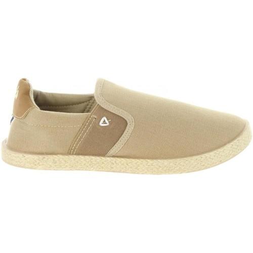 Schuhe Kinder Leinen-Pantoletten mit gefloch Lois 60064 Beige