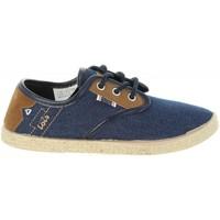 Schuhe Kinder Leinen-Pantoletten mit gefloch Lois Jeans 60063 Azul