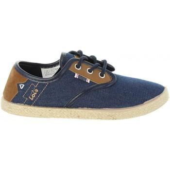 Schuhe Kinder Leinen-Pantoletten mit gefloch Lois 60063 Azul