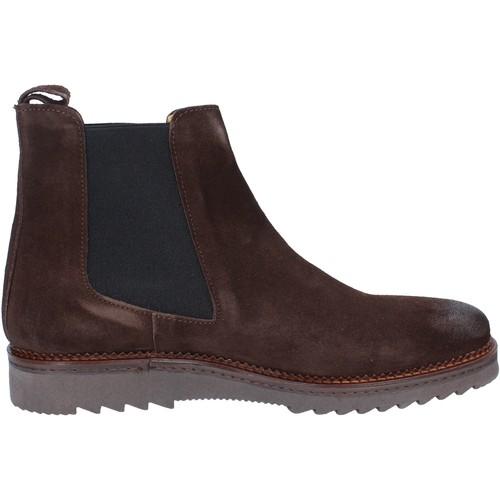 Schuhe Herren Boots Salvo Barone stiefeletten braun wildleder BZ141 braun