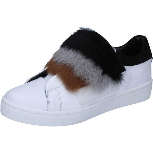 Schuhe Damen Sneaker Islo sneakers weiß leder Pelz BZ211 weiß