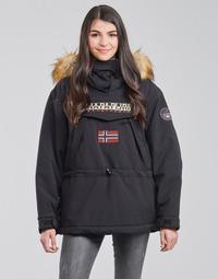 Kleidung Damen Parkas Napapijri SKIDOO Schwarz