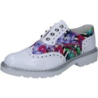 Schuhe Damen Derby-Schuhe Cult elegante weiß glänzendem leder mehrfarben textil BZ264 mehrfarben