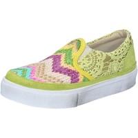 Schuhe Damen Slip on 2 Stars slip on gelb textil wildleder BZ524 gelb
