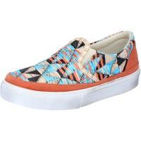 Schuhe Damen Slip on 2 Stars slip on mehrfarben textil wildleder BZ532 mehrfarben