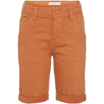 Kleidung Jungen Shorts / Bermudas Name It Kids NKMSOFUS TWIBACK LONG SHORTS AF Braun