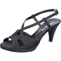 Schuhe Damen Sandalen / Sandaletten Calpierre sandalen schwarz satin BZ739 schwarz