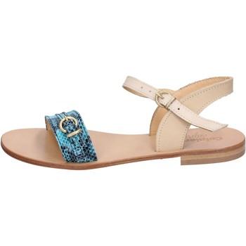 Schuhe Damen Sandalen / Sandaletten Calpierre sandalen grün leder braun BZ837 mehrfarben