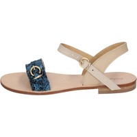 Schuhe Damen Sandalen / Sandaletten Calpierre sandalen blau leder BZ838 blau