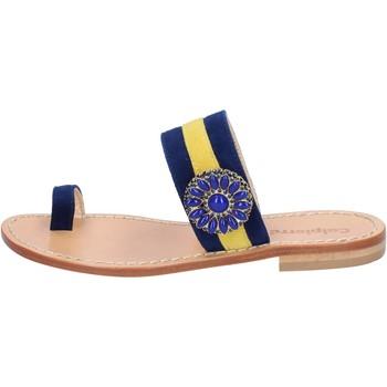 Schuhe Damen Sandalen / Sandaletten Calpierre sandalen blau wildleder gelb BZ841 mehrfarben