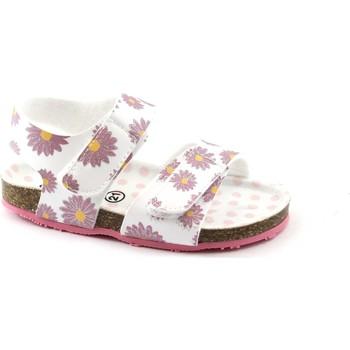 Schuhe Kinder Sandalen / Sandaletten Grunland GRÜNLAND AFRE SB0248 20/24 weißes Baby Sandale Fantasie Birk rei Bianco
