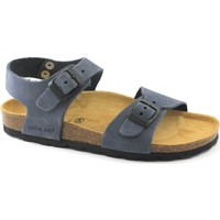 Schuhe Kinder Pantoffel Grunland GRÜNLAND LIGHT SB0205 32/41 Blue-Baby-Sandalen Birk Lederschnall Blu