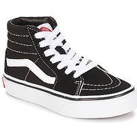 Schuhe Kinder Sneaker High Vans UY SK8-HI Schwarz / Weiss