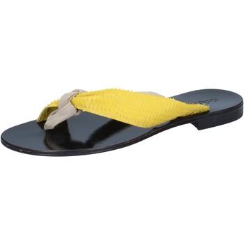 Schuhe Damen Sandalen / Sandaletten Calpierre sandalen beige wildleder gelb leder BZ869 beige