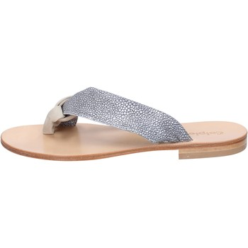 Schuhe Damen Sandalen / Sandaletten Calpierre sandalen grau wildleder beige textil BZ880 beige