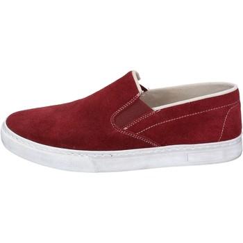 Schuhe Herren Slip on Nyon NYON slip on burgund wildleder BZ901 rot