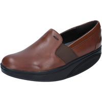 Schuhe Damen Slipper Mbt mokassins braun leder lack dynamic BZ910 braun