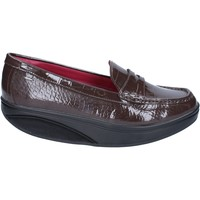 Schuhe Damen Slipper Mbt mokassins braun lack dynamic BZ916 braun