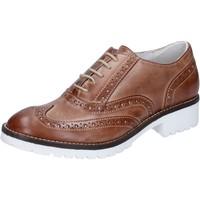 Schuhe Damen Richelieu Crown elegante braun leder BZ932 braun
