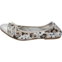 Schuhe Damen Ballerinas Crown ballerinas beige lack textil BZ939 beige