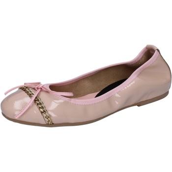 Schuhe Damen Ballerinas Crown ballerinas pink cipria lack BZ941 pink