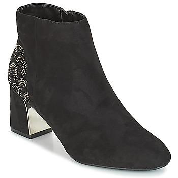 Schuhe Damen Low Boots Moony Mood JASMINA Schwarz