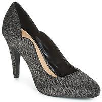 Schuhe Damen Pumps Moony Mood JANNEE Schwarz / Silbern