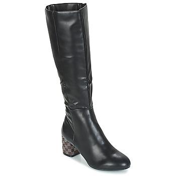 Schuhe Damen Klassische Stiefel Moony Mood JISMIA Schwarz