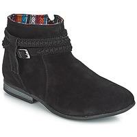 Schuhe Damen Boots Minnetonka DIXON BOOT Schwarz