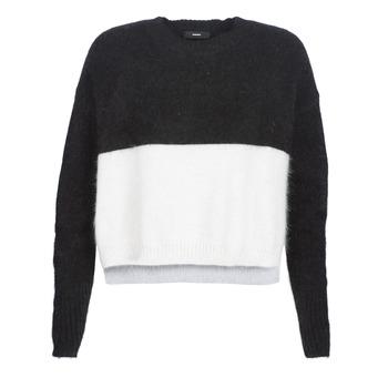 Kleidung Damen Pullover Diesel M AIRY Schwarz / Weiss