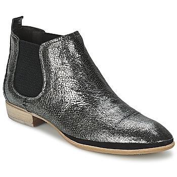Schuhe Damen Boots Un Matin d'Ete TOBAGO Schwarz / Silbern