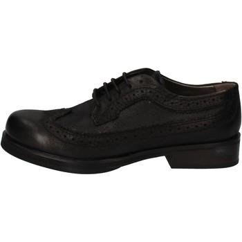 Schuhe Damen Derby-Schuhe Crime London elegante schwarz leder AE323 schwarz