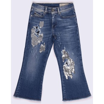 Kleidung Kinder Straight Leg Jeans Diesel PRILLA-J 00J3S4 KXA25 JEANS Mädchen DENIM LIGHT BLUE DENIM LIGHT BLUE