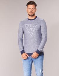 Kleidung Herren Pullover Guess TAMAC Blau