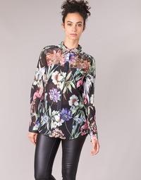 Kleidung Damen Hemden Guess CLOUIS Schwarz / Multifarben