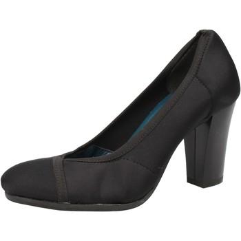 Schuhe Damen Pumps Keys pumps schwarz textil AE601 schwarz