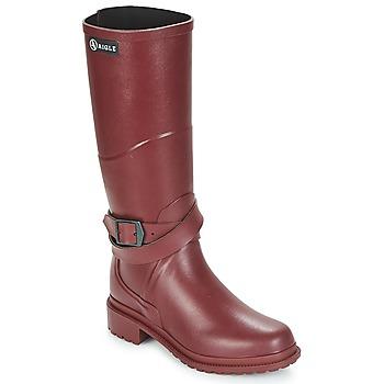 Schuhe Damen Gummistiefel Aigle MACADAMES Bordeaux