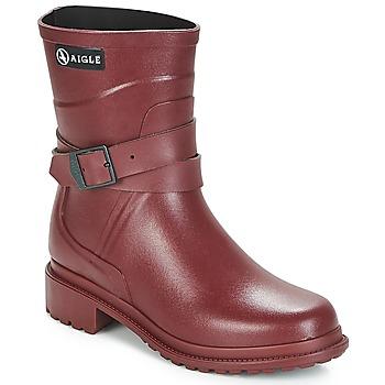 Schuhe Damen Gummistiefel Aigle MACADAMES MID Bordeaux