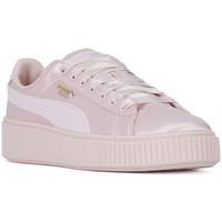 Schuhe Damen Sneaker Low Puma BASKET PLATFORM TWEEN JR Rosa