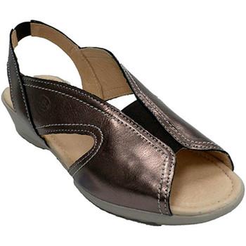 Schuhe Damen Sandalen / Sandaletten 48 Horas Frau Sandale Gummi Spann  metall Grau