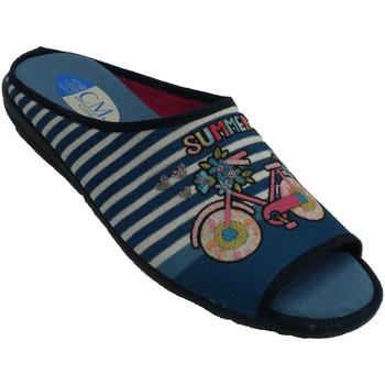 Schuhe Damen Hausschuhe Calzamur Chancla Frau zu Hause sein  blau Blau