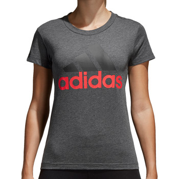 Kleidung Damen T-Shirts adidas Originals Essentials Linear Slim Tee Women Grau