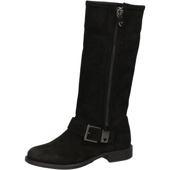 Schuhe Damen Klassische Stiefel Twin Set TWIN-SET stiefel schwarz wildleder AE835 schwarz