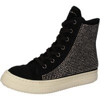 Schuhe Damen Sneaker High Twin Set TWIN-SET sneakers schwarz wildleder strass AE840 schwarz