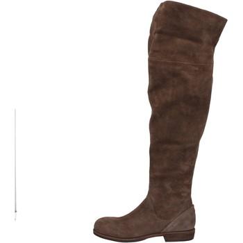 Schuhe Damen Kniestiefel Vic schuhe damen  stiefel braun wildleder AE871 braun