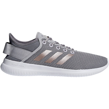 Schuhe Damen Sneaker Low adidas Originals Cloudfoam QT Flex Women Silbern